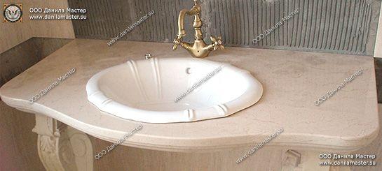 Столешницы для ванны искуственный камень Середниково
